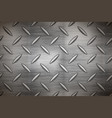 industrial metal plate with diamond non slip vector image vector image