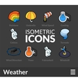 Isometric outline icons set 24 vector image vector image