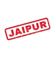 Jaipur Rubber Stamp vector image vector image