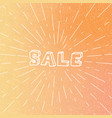 linear sale poster on gradient background vector image vector image