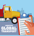 logistic global transport concept vector image vector image
