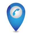 Map pointer with phone vector image vector image