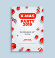 merry christmas party layout poster poster vector image vector image