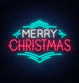 merry christmas text template design letter vector image vector image