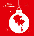 merry christmas theme with map of los angeles vector image vector image