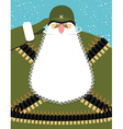 Military Santa Claus Old soldier with beard and vector image vector image
