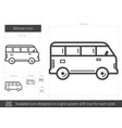 minivan line icon vector image vector image