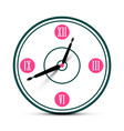 modern roman numeral analog clock symbol time icon vector image vector image