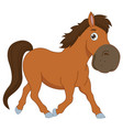 of a cartoon horse vector image vector image