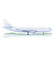 One Airplane on Ground vector image vector image
