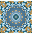 Oriental colorful ornament in blue and orange vector image