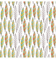 pattern with bright autumn leaves seasonal vector image