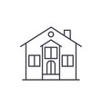 private house line icon concept private house vector image vector image