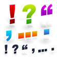 punctuation marks vector image