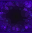 purple bubbles on dark background place for text vector image
