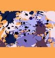 purple lilac orange brown ink splashes background vector image vector image
