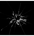 Realistic broken glass vector image