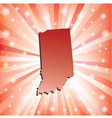 Red Indiana vector image vector image