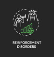 reinforcement disorders chalk rgb color concept vector image vector image
