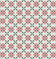retro geometric seamless pattern in pink and grey vector image vector image