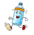 run bottle of water pop art vector image vector image