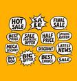 sale set bubbles business concept vector image