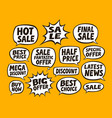 sale set of bubbles business concept vector image