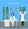 scientists people colored composition vector image vector image
