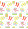seamless pattern with gift boxes icon vector image
