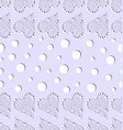 seamless pattern with openwork hearts and white vector image