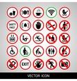 Set a public icon vector image vector image