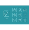 Set of kite simple icons vector image