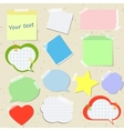 Set of stickers and reminders in different styles vector image