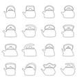 set outlines kettles vector image