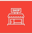 Shop line icon vector image vector image