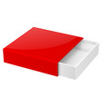 slider box red blank open box mock up vector image