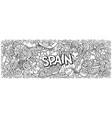 spain hand drawn cartoon doodles vector image