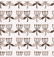 stylized flower stripes seamless pattern vector image
