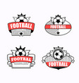 successful football emblem club vector image vector image