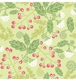 Summer berries seamless pattern background vector image
