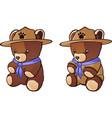 teddy bear cub scout cartoon character vector image vector image