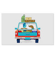 travelling with pets car concept flat vector image