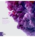Violet swirling watercolor ink in water vector image vector image
