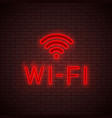 wi-fi neon sign vector image vector image