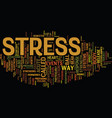 your brain s response to acute stress text vector image vector image