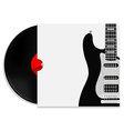 Vinyl record with cover vector image