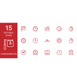 15 chronometer icons vector image vector image