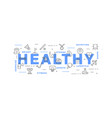 active healthy lifestyle vector image