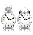 Alarm clock set in a retro style vector image vector image