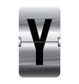 Alphabet silver flipboard letters y vector image vector image